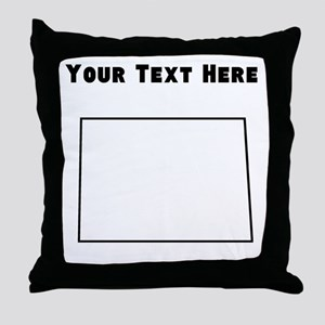 North Dakota Outline (Custom) Throw Pillow