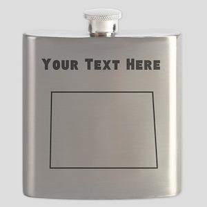 North Dakota Outline (Custom) Flask