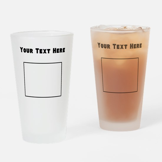 North Dakota Outline (Custom) Drinking Glass