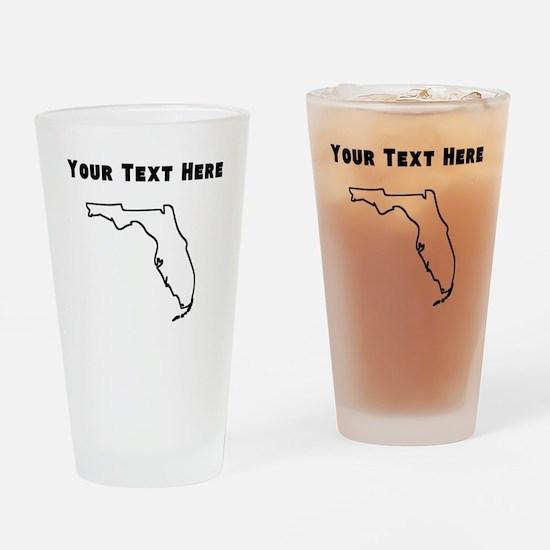 Florida Outline (Custom) Drinking Glass