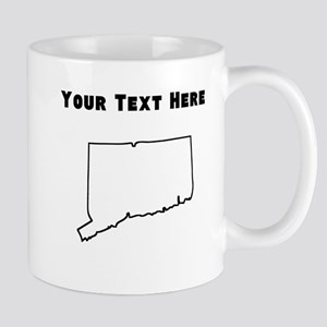 Connecticut Outline (Custom) Mugs