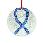 Thyroid Disease Ribbon Round Ornament