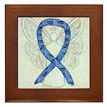 Thyroid Disease Ribbon Framed Tile