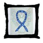 Thyroid Disease Ribbon Throw Pillow