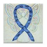 Thyroid Disease Ribbon Tile Coaster