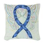 Thyroid Disease Ribbon Woven Throw Pillow