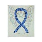 Thyroid Disease Awareness Ribbon Throw Blanket