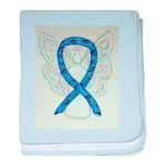 Thyroid Disease Ribbon baby blanket