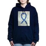 Thyroid Disease Ribbon Women's Hooded Sweatshirt