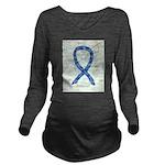 Thyroid Disease Ribbon Long Sleeve Maternity T-Shi