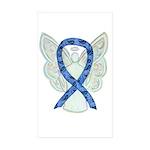 Thyroid Disease Ribbon Sticker Rectangle -10 Pk