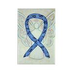 Thyroid Disease Awareness Ribbon Magnets -100 Pack