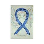 Thyroid Disease Awareness Ribbon Rectangle Magnets