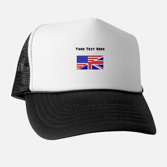 British American Flag Trucker Hat