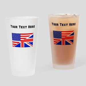 British American Flag Drinking Glass