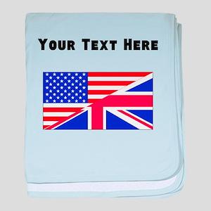 British American Flag baby blanket