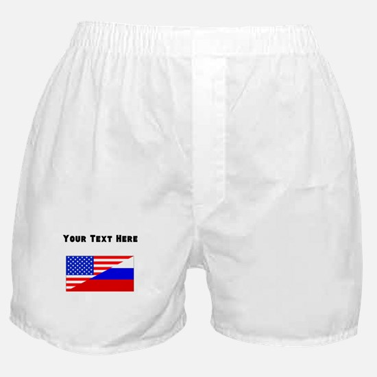 Russian American Flag Boxer Shorts