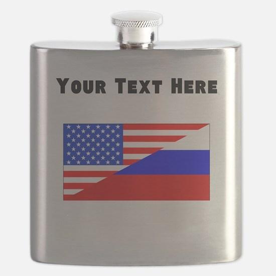 Russian American Flag Flask