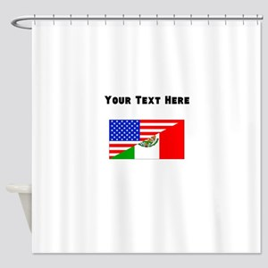 Mexican American Flag Shower Curtain