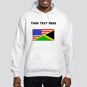 Jamaican American Flag Hoodie
