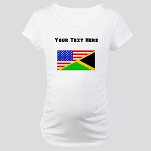 Jamaican American Flag Maternity T-Shirt