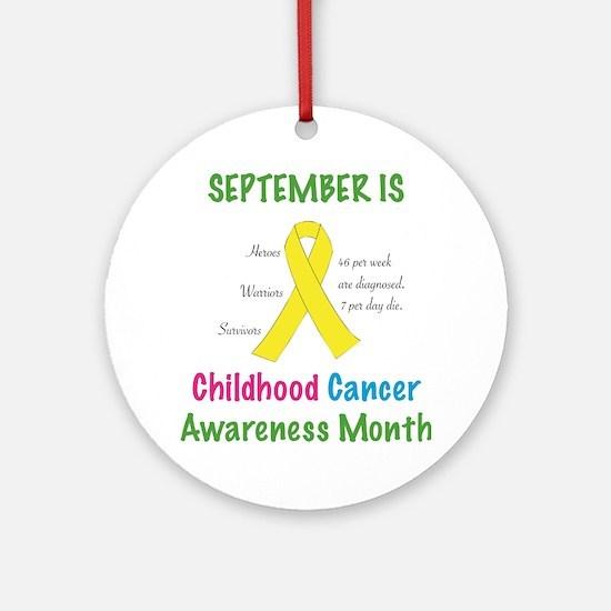 Cute Childhood cancer survivor Round Ornament