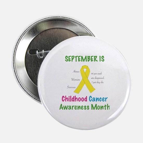 """Cute Childhood cancer survivor 2.25"""" Button"""