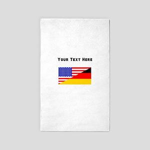 German American Flag Area Rug