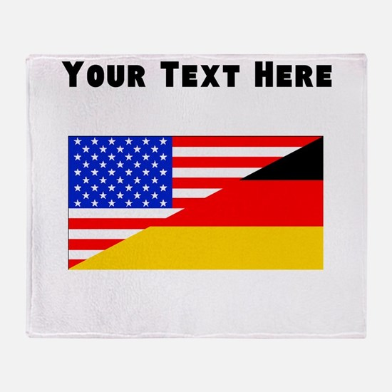 German American Flag Throw Blanket