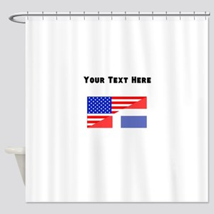 Dominican American Flag Shower Curtain