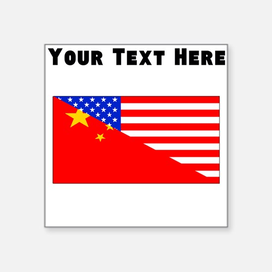 Chinese American Flag Sticker
