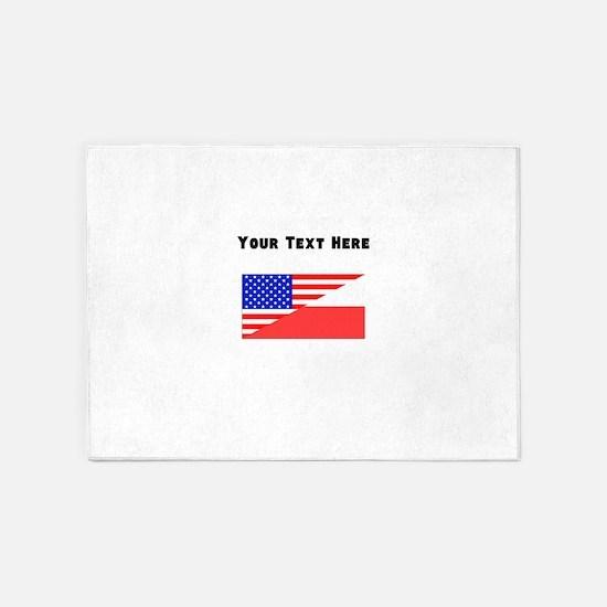 Chilean American Flag 5'x7'Area Rug