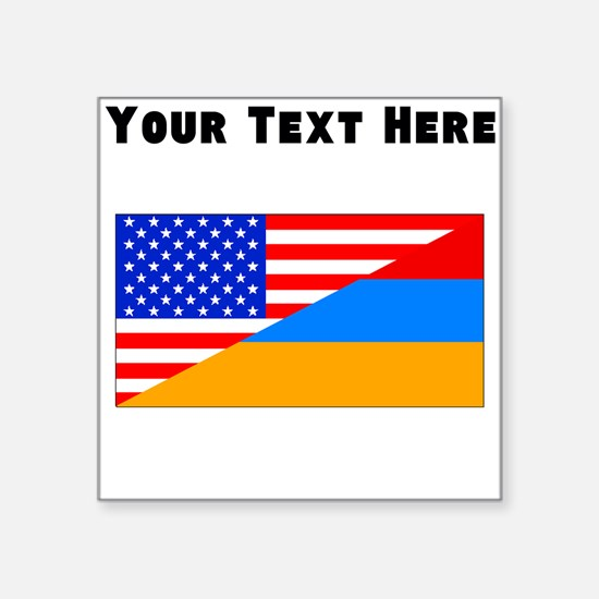Armenian American Flag Sticker
