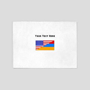 Armenian American Flag 5'x7'Area Rug