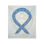 Thyroid Disease Awareness Ribbon Art Throw Blanket