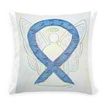 Thyroid Disease Ribbon Everyday Pillow