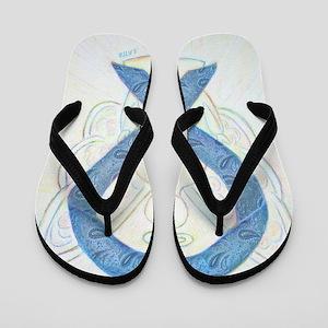 Thyroid Disease Ribbon Flip Flops