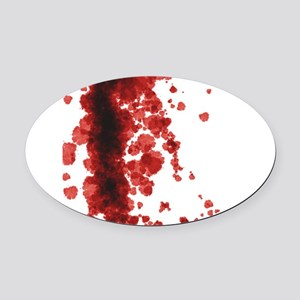 Bloody Mess Oval Car Magnet