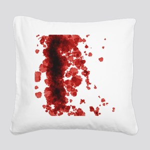 Bloody Mess Square Canvas Pillow