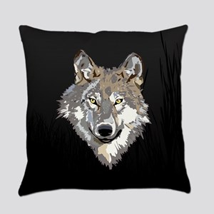 Lone Wolf Everyday Pillow