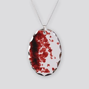 Bloody Mess Necklace Oval Charm