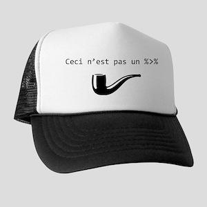 R programming magrittr pipe black Trucker Hat