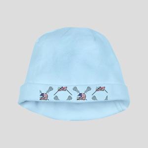 American Flag Lacrosse Baby Hat