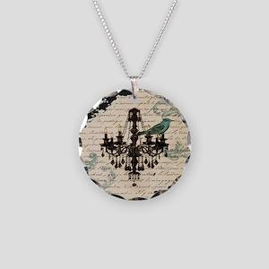 girly chandelier vintage par Necklace Circle Charm