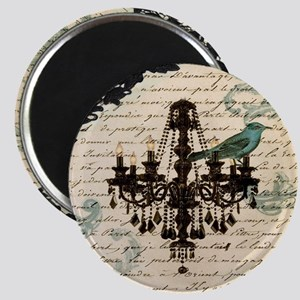 girly chandelier vintage paris  Magnet