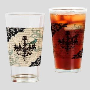 girly chandelier vintage paris  Drinking Glass