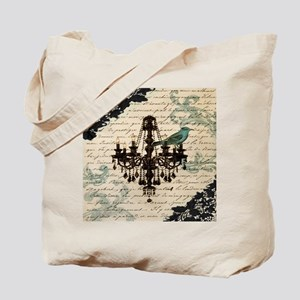 girly chandelier vintage paris  Tote Bag