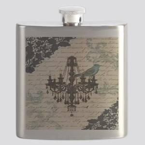 girly chandelier vintage paris  Flask