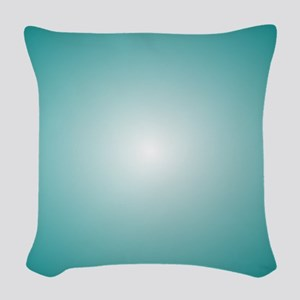 Blue Gradient Radial Ombre Woven Throw Pillow