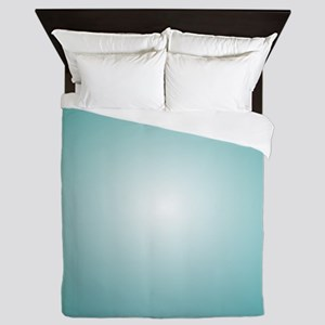 Blue Gradient Radial Ombre Queen Duvet